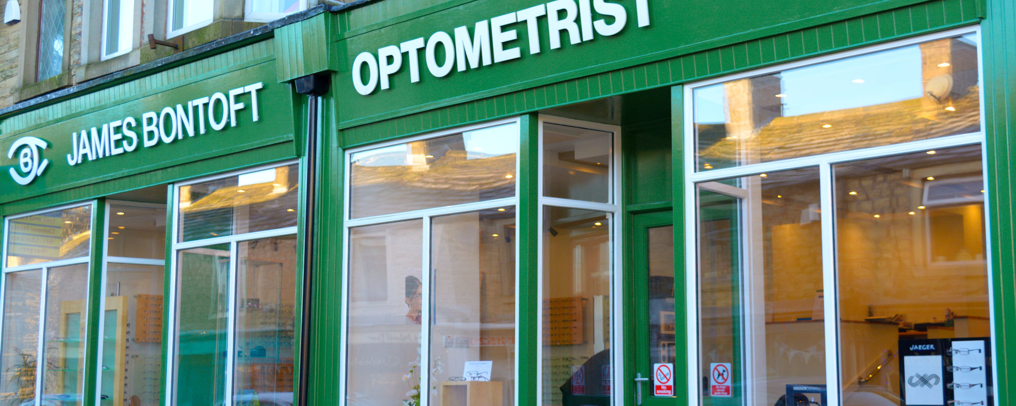 Gisburn's local optician - James Bontoft in Barnoldswick